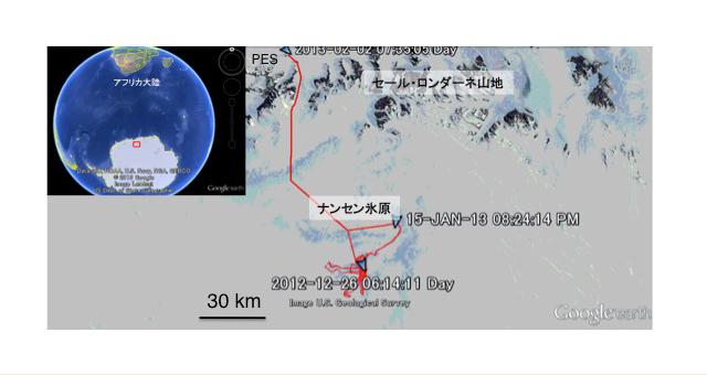 ナンセン氷原地図